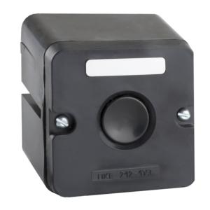 Пост кнопочный ПКЕ 212-1 черная кнопка