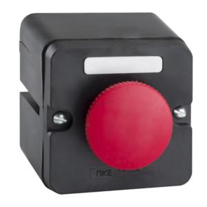 Пост кнопочный ПКЕ 222-1 красный гриб