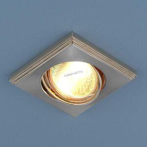 Точечный светильник 105А MR16 PS/N перл. сер./ник Elektrostandard