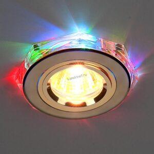 Точечный светильник 2020/2 золото/мультиподсветка (GD/7-LED) SC (Elektrostandard)