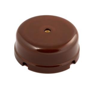 Коробка распределительная фарфор, цвет - коричневый d80x33мм IP20 GE70235-04 МЕЗОНИНЪ