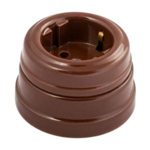 Розетка з/к керамическая с подъемной рамкой, цвет — коричневый d70x45мм IP20 GE70301-04 МЕЗОНИНЪ