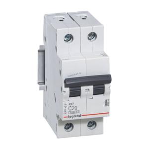 Автоматический выключатель RX3 2п 20А х-ка С 4,5кА 419698 Legrand