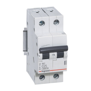 Автоматический выключатель RX3 2п 25А х-ка С 4,5кА 419699 Legrand