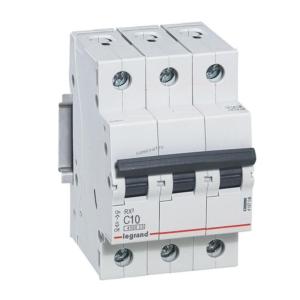 Автоматический выключатель RX3 3п 10А х-ка С 4,5кА 419706 Legrand