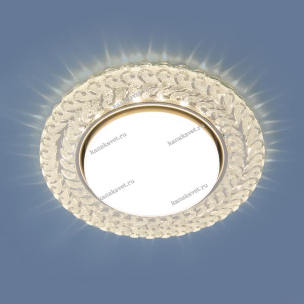 Светильник встраиваемый 3027 GX53 CL прозрачный Elektrostandard