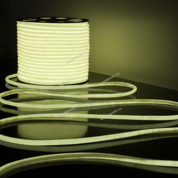 Светодиодный гибкий неон белый LS003 220V 9.6W 144Led 2835 IP67 6500К Elektrostandard