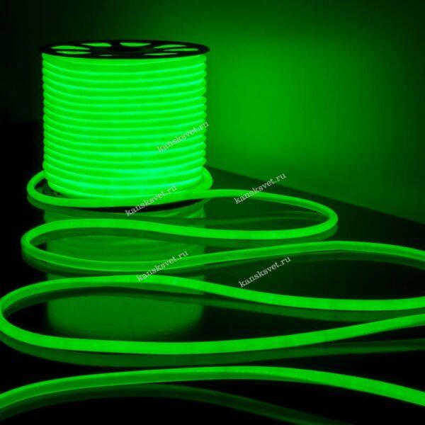 Светодиодный гибкий неон зеленый LS003 220V 9.6W 144Led 2835 IP67 Elektrostandard