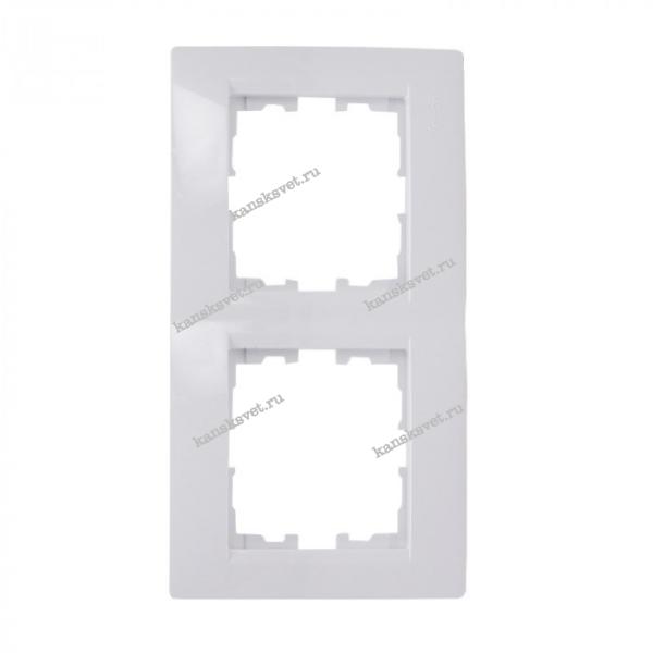 707-0200-152 Рамка 2-ая вертикальная KARINA белый LEZARD