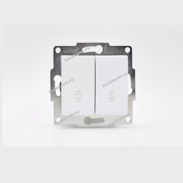 707-0288-106 Выключатель проходной двойной KARINA белый LEZARD