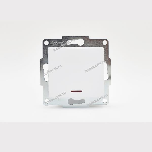 707-0288-111 Выключатель с подсветкой KARINA белый LEZARD