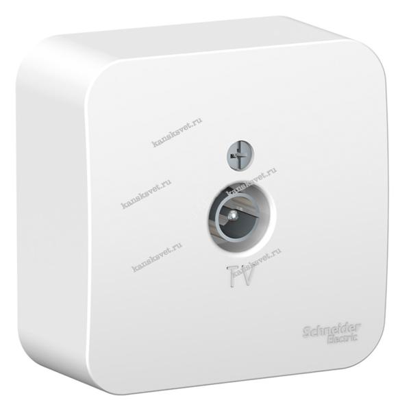 BLNTA000011 Коннектор ТВ о/у изол.пл., Blanca белый Schneider Electric
