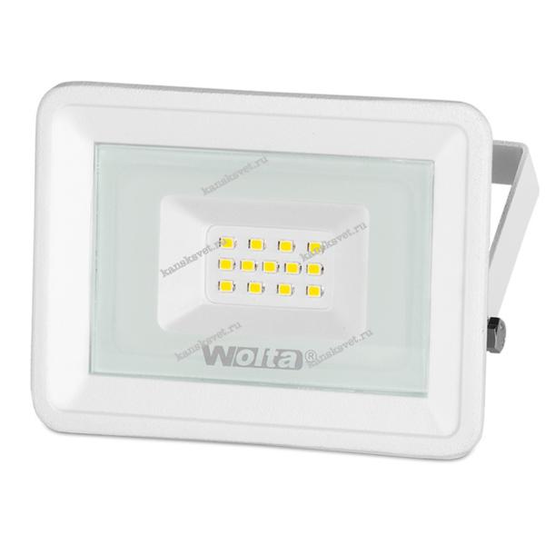 Прожектор светодиодный WFL-10W/06W 10Вт 5500К IP65 Белый Wolta